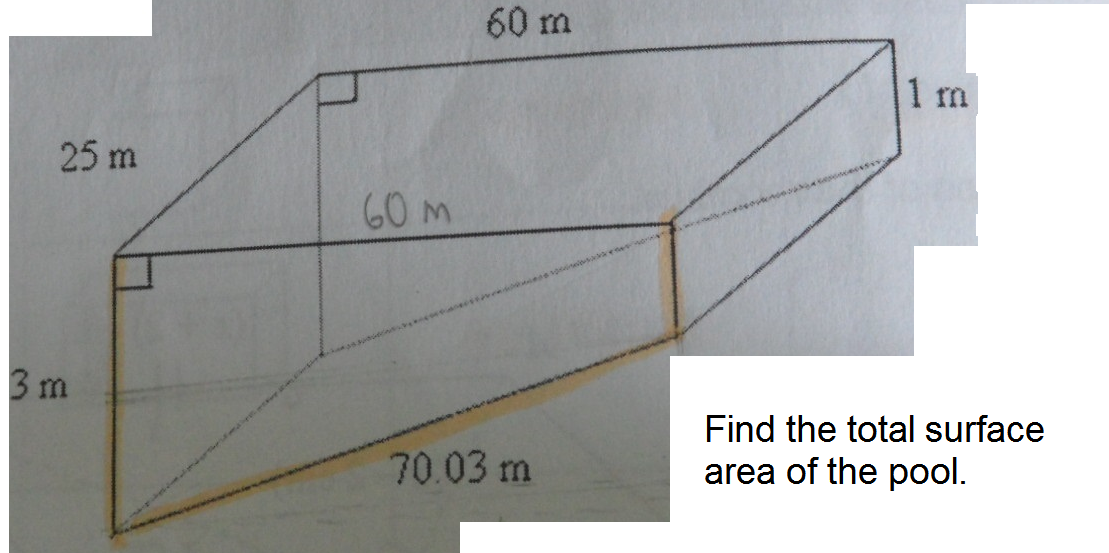 Volume and surface area find the surface area of the - How to calculate swimming pool volume ...