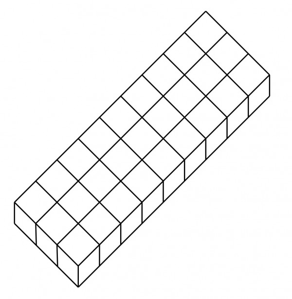 using 27 1cm3 cubes, find a surface area of 78cm2