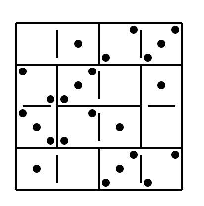 4×4 dominoes magic square with sum=6 - Math Homework Answers